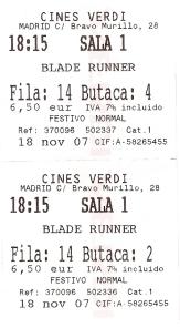 ENTRADAS BLADE RUNNER