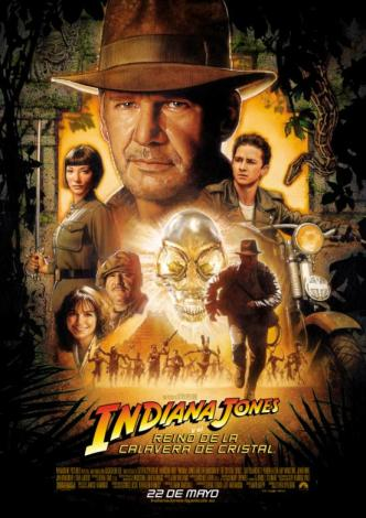 CARTEL DEFINITIVO INDIANA JONES Y LA CALAVERA DE CRISTAL