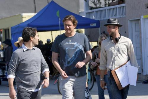 Detrás de las cámaras, Paul Rudd, Jason Segel y el director del film