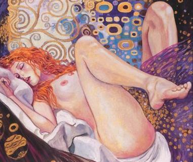 Representación de mujer con las piernas abiertas